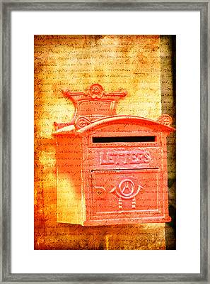 Please Mr Postman... Framed Print