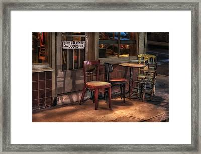 Please Use Other Doors Framed Print by Brenda Bryant