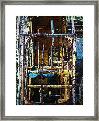 Pleasent Point Crane 8 Framed Print by Cyryn Fyrcyd