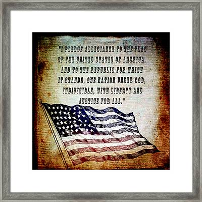 Pledge Framed Print by Angelina Vick