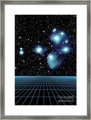 Pleiades In Taurus Framed Print by Science Source
