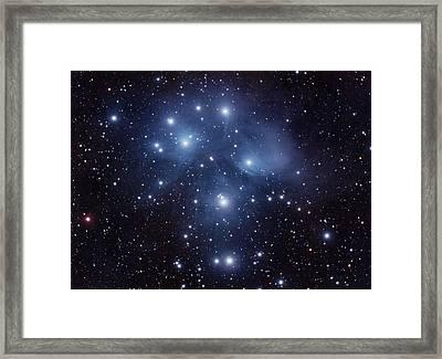 Pleiades M45 Framed Print