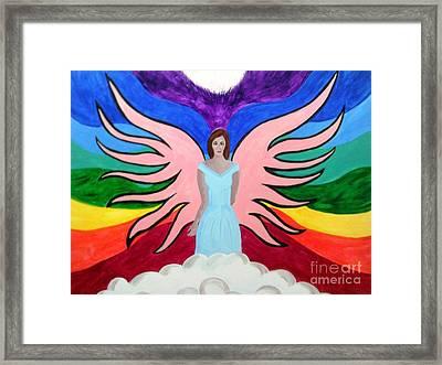 Pleiadian Goddess Framed Print by Josie Weir