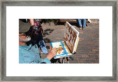 Plein Air At Aspen  Framed Print