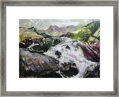 Plein Air In Snowdonia Framed Print