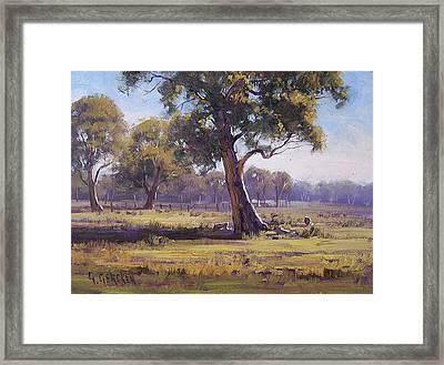 Plein Air Painting Framed Print by Graham Gercken