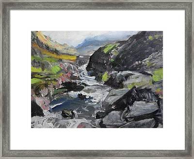 Plein Air Sketch At Ogwen Snowdonia Framed Print