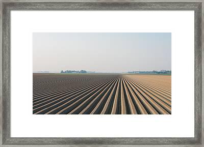 Plowed Field Framed Print by Hans Engbers