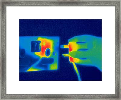 Plug And Socket, Thermogram Framed Print