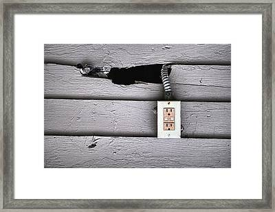 Plug In- Out Framed Print