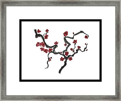 Plum Blossoms Framed Print