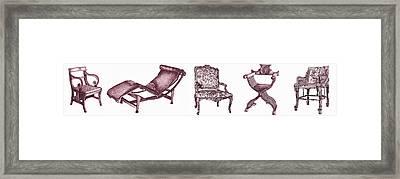 Plum Chair Poster Horizontal  Framed Print by Adendorff Design