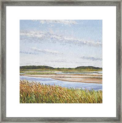 Plum Island Morning Framed Print by Meg Black