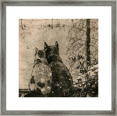 Plusha And Musya Framed Print by Aleksey Zuev