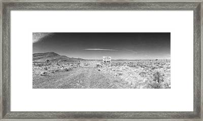 Plutonium Valley Framed Print