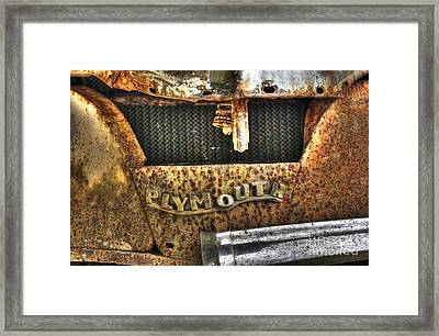 Plymouth Logo Relic Framed Print by Dan Stone