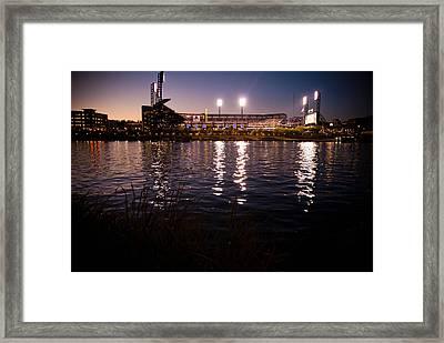 Pnc Park Sunset Framed Print by Kayla Yankovic