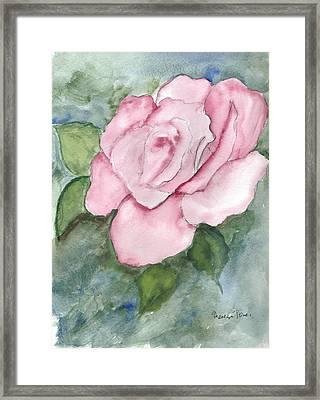 Pnk Rose Framed Print by Theresa Jones
