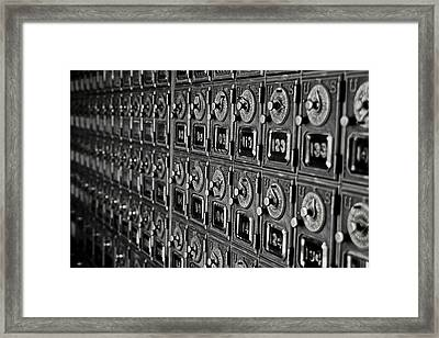 Po Box Framed Print