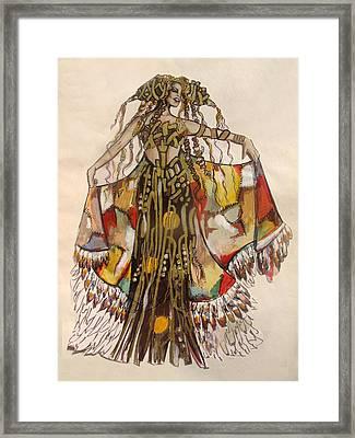 Pocahontas Framed Print by Karine Percheron-Daniels