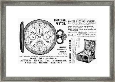 Pocket Watch, 1897 Framed Print by Granger