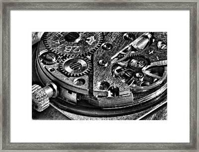 Pocket Watch Mechanism Framed Print by Maxim Sivyi