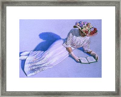 Framed Print featuring the painting Poetic Moment by Sue Halstenberg