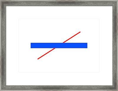 Poggendorff Illusion Framed Print