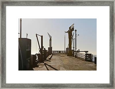 Point Arena Cove Pier Framed Print