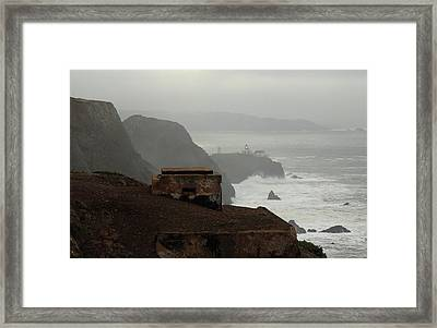 Framed Print featuring the photograph Point Bonita Lighthouse And Battery by Scott Rackers
