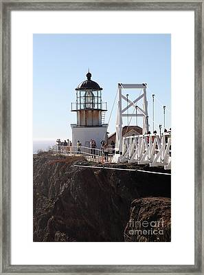 Point Bonita Lighthouse In The Marin Headlands - 5d19667 Framed Print by Wingsdomain Art and Photography
