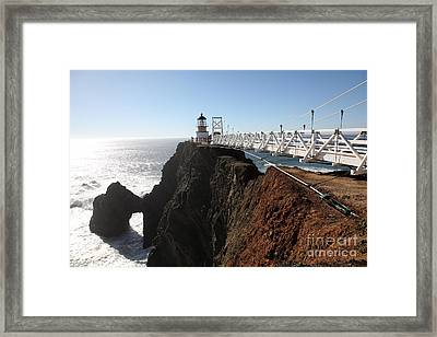 Point Bonita Lighthouse In The Marin Headlands - 5d19668 Framed Print by Wingsdomain Art and Photography