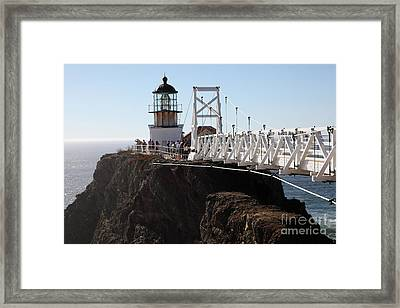 Point Bonita Lighthouse In The Marin Headlands - 5d19671 Framed Print by Wingsdomain Art and Photography