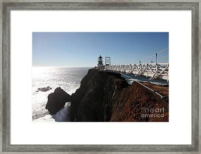 Point Bonita Lighthouse In The Marin Headlands - 5d19673 Framed Print by Wingsdomain Art and Photography