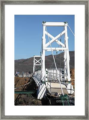 Point Bonita Lighthouse In The Marin Headlands - 5d19684 Framed Print by Wingsdomain Art and Photography