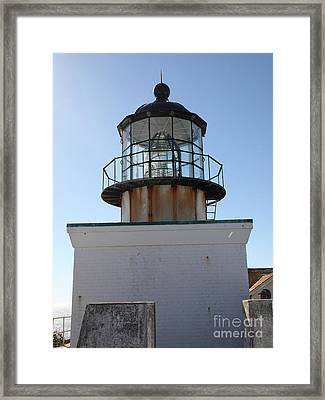 Point Bonita Lighthouse In The Marin Headlands - 5d19687 Framed Print by Wingsdomain Art and Photography