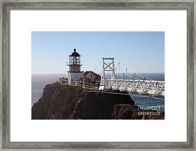 Point Bonita Lighthouse In The Marin Headlands - 5d19697 Framed Print by Wingsdomain Art and Photography