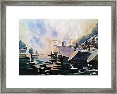 Point Clear--after A Summer Rain--- Mobile Bay Framed Print by Don F  Bradford