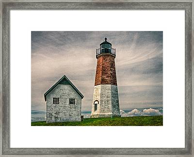 Point Judith Light Framed Print