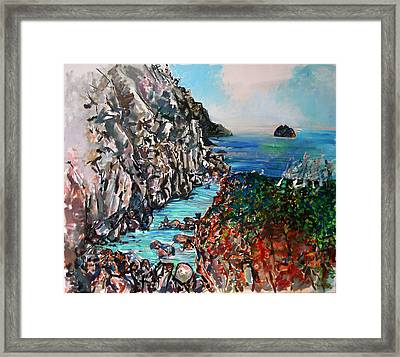 Point Lobos Whalers Cove Framed Print by Zolita Sverdlove