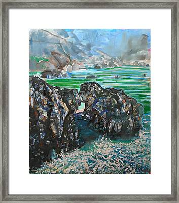 Point Lobos Window Rock Framed Print by Zolita Sverdlove