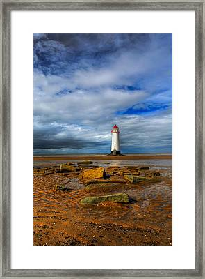 Point Of Ayr Beach Framed Print by Adrian Evans