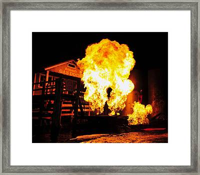 Point Of Explosion Framed Print