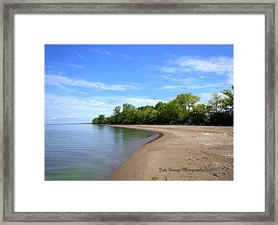 Point Pelee Beach Framed Print