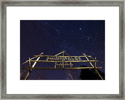 Point Pelee Under The Stars Framed Print by Cale Best