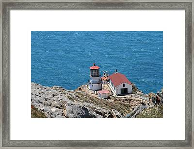 Point Reyes Lighthouse In California 7d15974 Framed Print