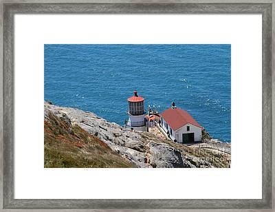 Point Reyes Lighthouse In California 7d15980 Framed Print