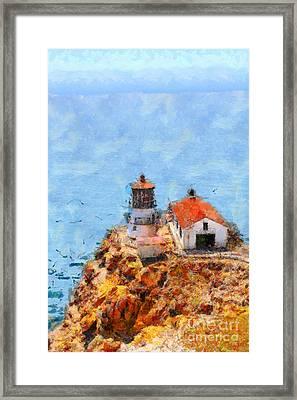 Point Reyes Lighthouse In California . 7d15989 Framed Print by Wingsdomain Art and Photography