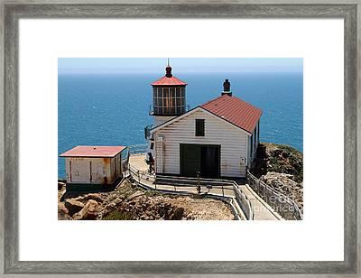 Point Reyes Lighthouse In California 7d15997 Framed Print