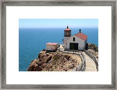 Point Reyes Lighthouse In California 7d16001 Framed Print